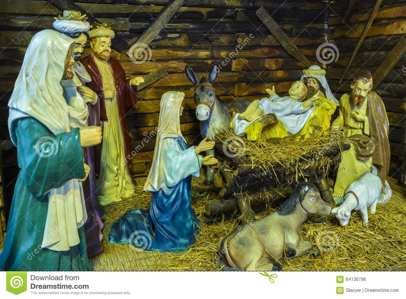 the birth of jesus stock photo. image of baby, christmas - 64130796