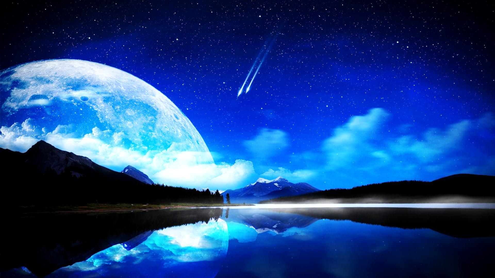 the blue moon hd wallpapers | pixelstalk