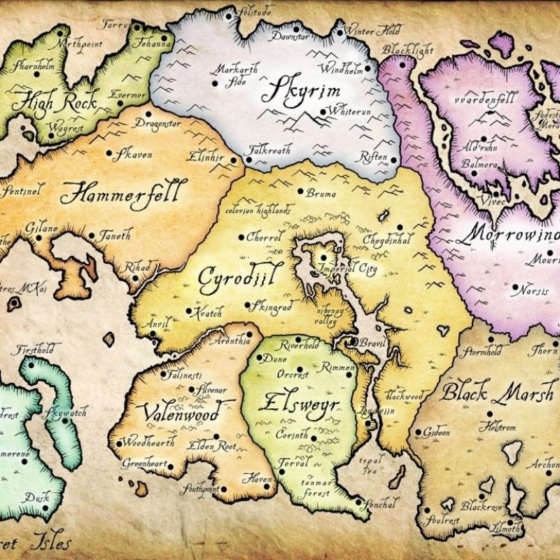 10 Best Elder Scrolls Map Wallpaper FULL HD 1080p For PC Background 2018 free download the elder scrolls online carte de tamriel old maps pinterest 800x800
