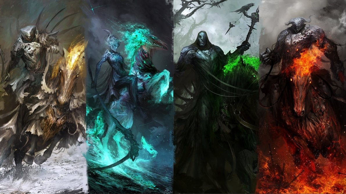 the four wallpapers of the apocalypsethedurrrrian on deviantart