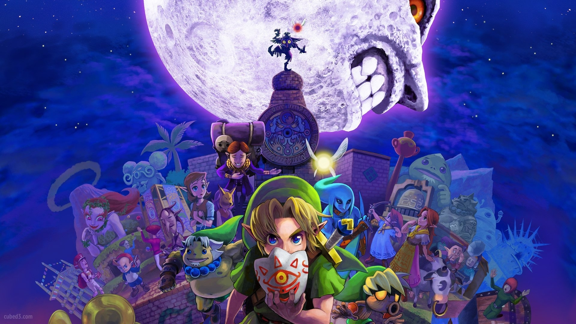 the legend of zelda majora's mask 3d wallpaper full hd fond d'écran