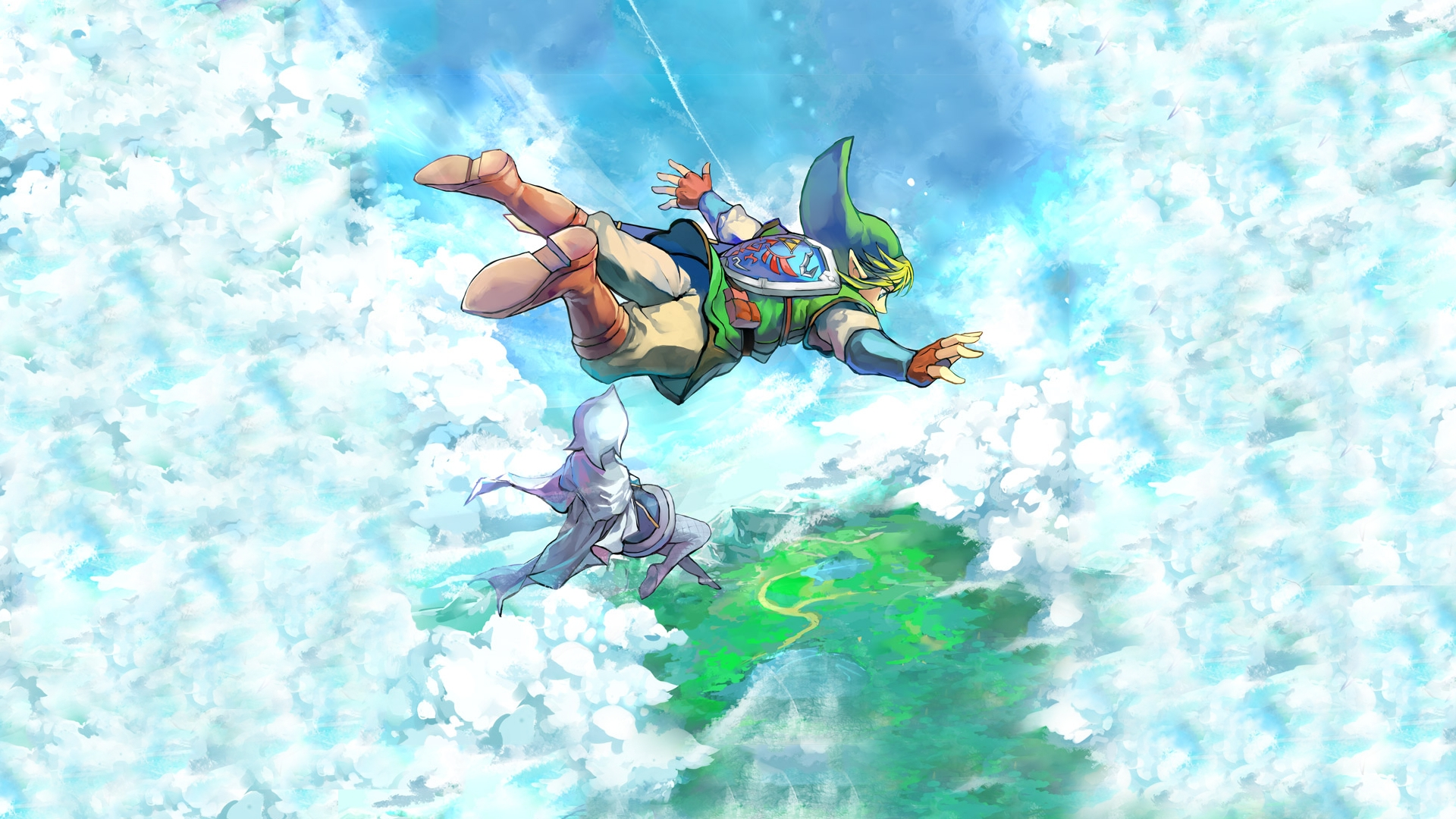 the legend of zelda: skyward sword full hd fond d'écran and arrière