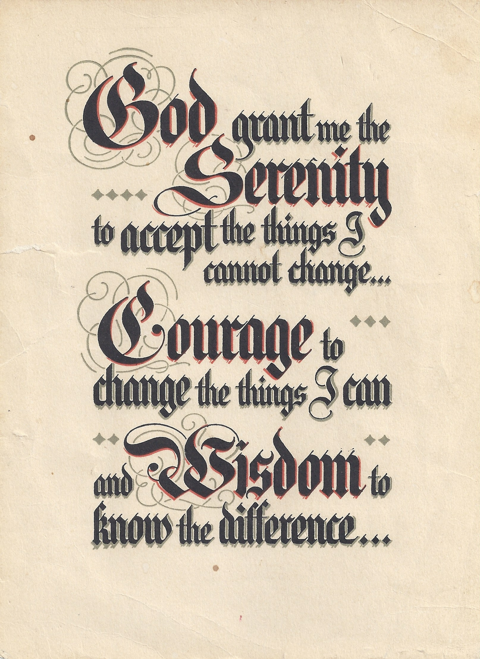 the serenity prayer and a.a. | faith seeking understanding