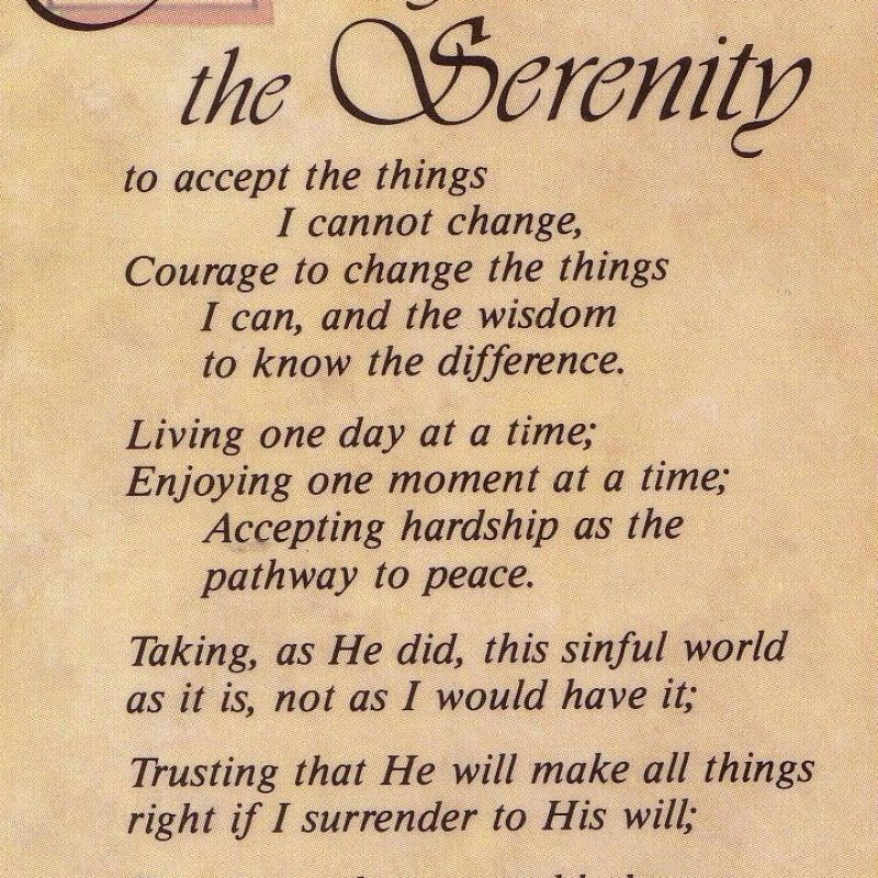 10 Most Popular Images Of The Serenity Prayer FULL HD 1920×1080 For PC Background 2020 free download the serenity prayer long version click here to return to random 800x800