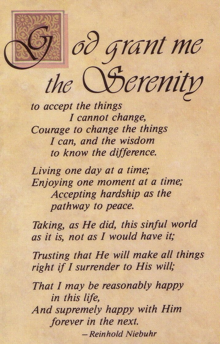 the serenity prayer long version | click here to return to random