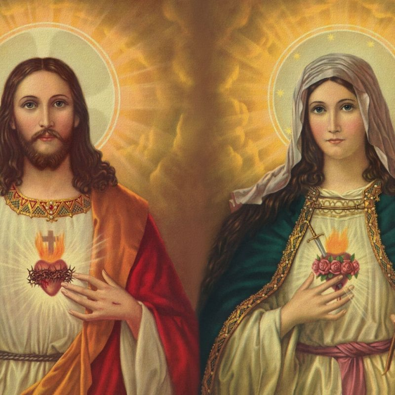 10 Top Mary And Jesus Images FULL HD 1920×1080 For PC Desktop 2018 free download the two hearts of jesus and mary the philippine catholic herald 800x800