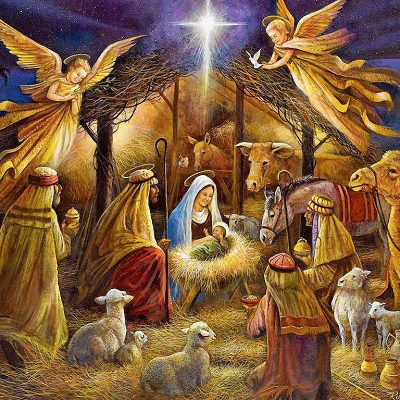 10 New Nativity Scene Wallpaper Screensaver FULL HD 1080p For PC Desktop 2020 free download the war on christmas christmas nativity birth and angel 2 800x800
