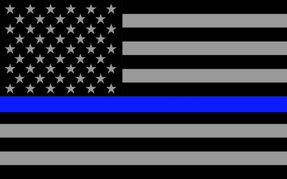 thin blue line american flag - shield equipment company