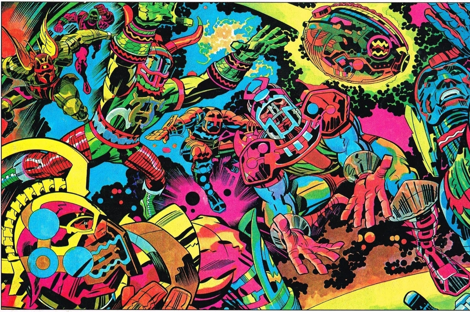 this amazing jack kirby illustration once ran in the nfl's official