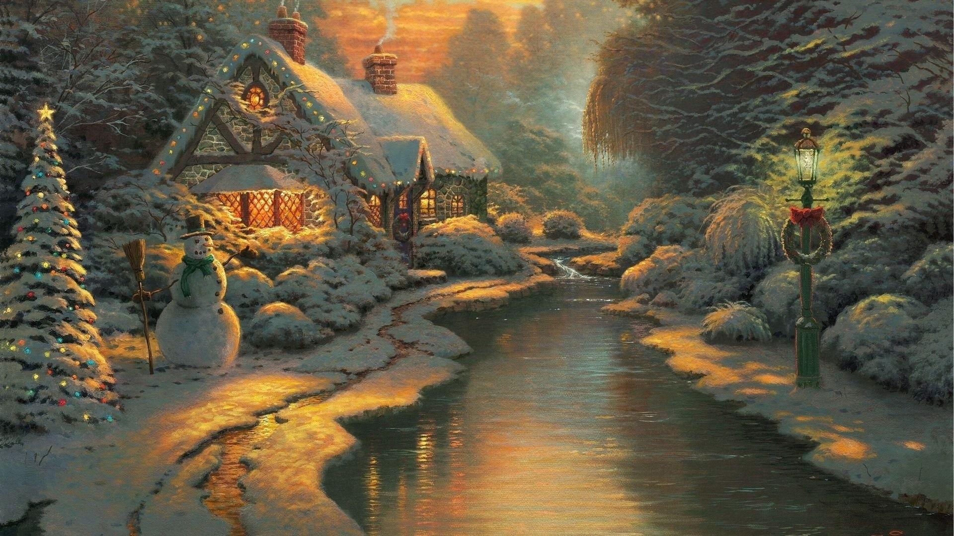 thomas kinkade christmas wallpaper (63+ images)