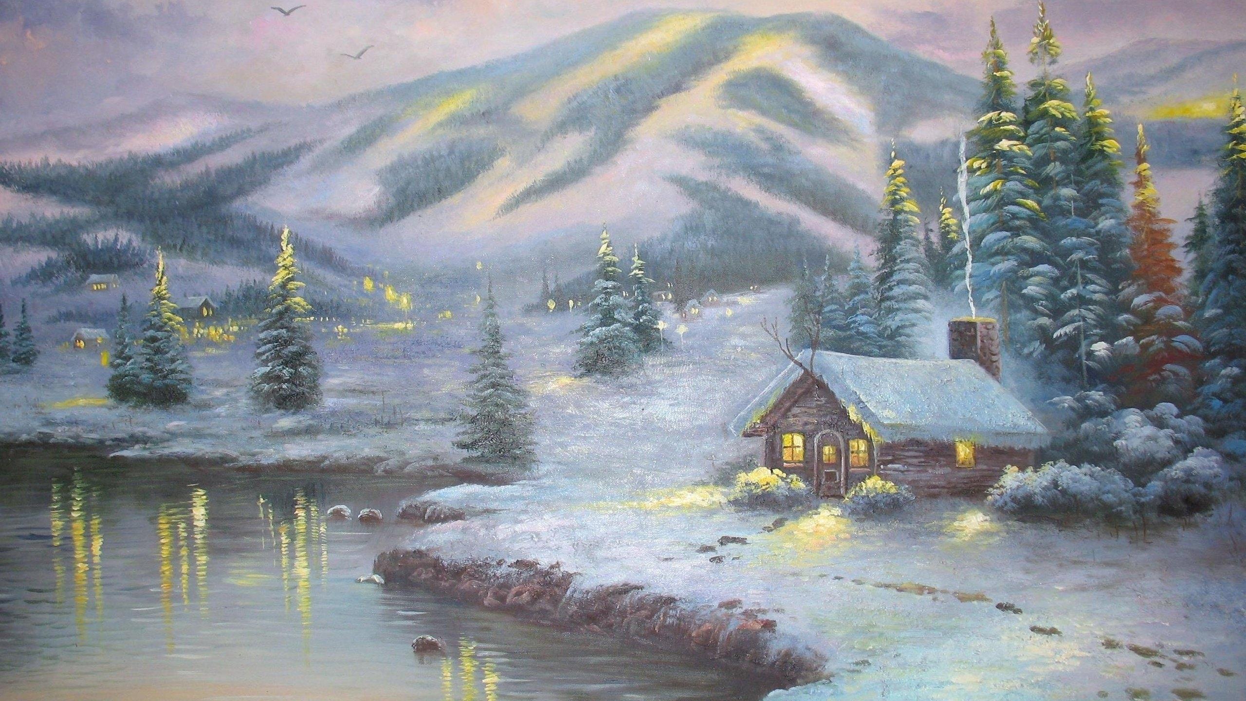 thomas kinkade winter - walldevil