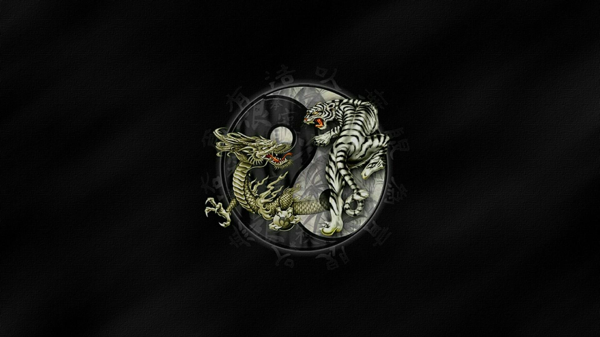 tiger and dragon yin and yang wallpaper | wallpaper studio 10 | tens