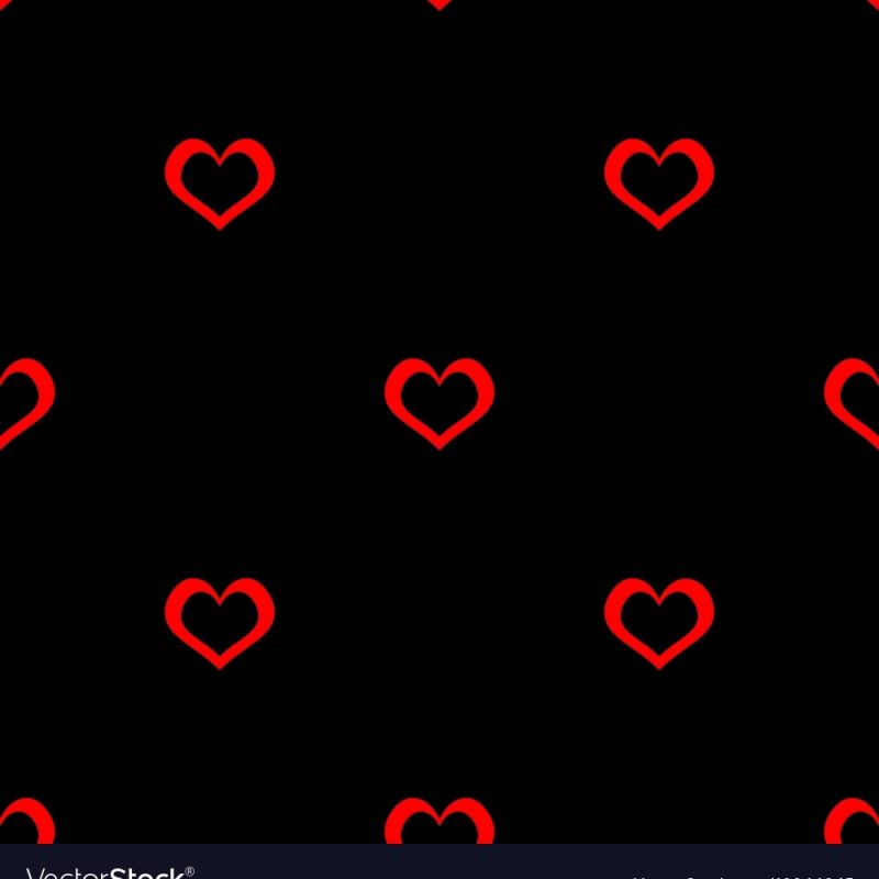10 Latest Red Heart Black Background FULL HD 1080p For PC Desktop 2020 free download tile pattern with red hearts on black background vector image 800x800