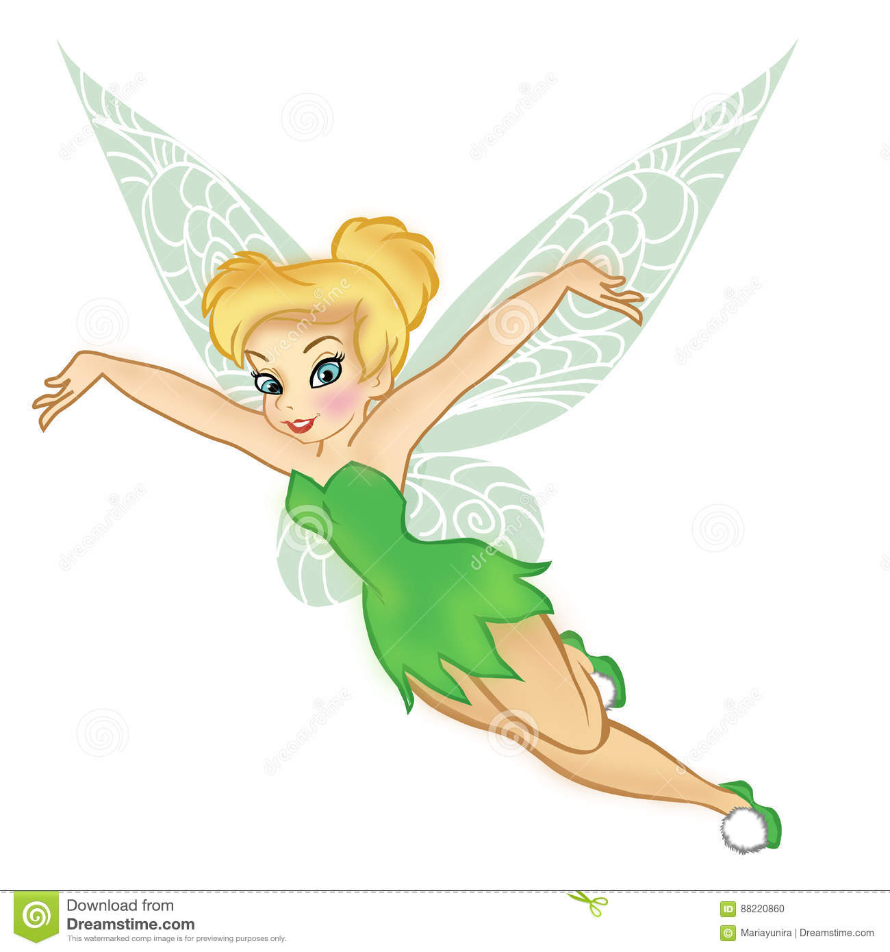 tinkerbell editorial image. illustration of pretty, movie - 88220860