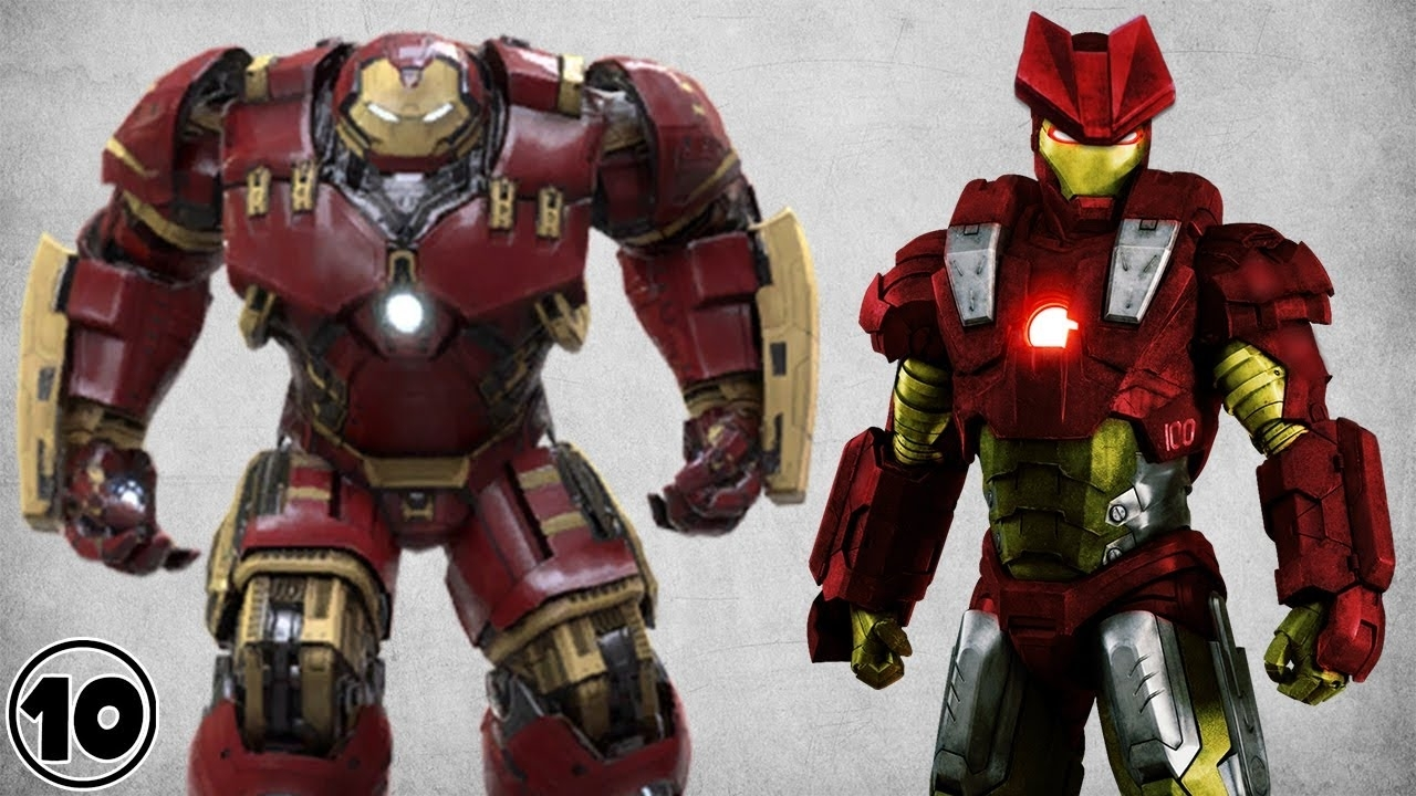 top 10 alternate iron man suits - youtube