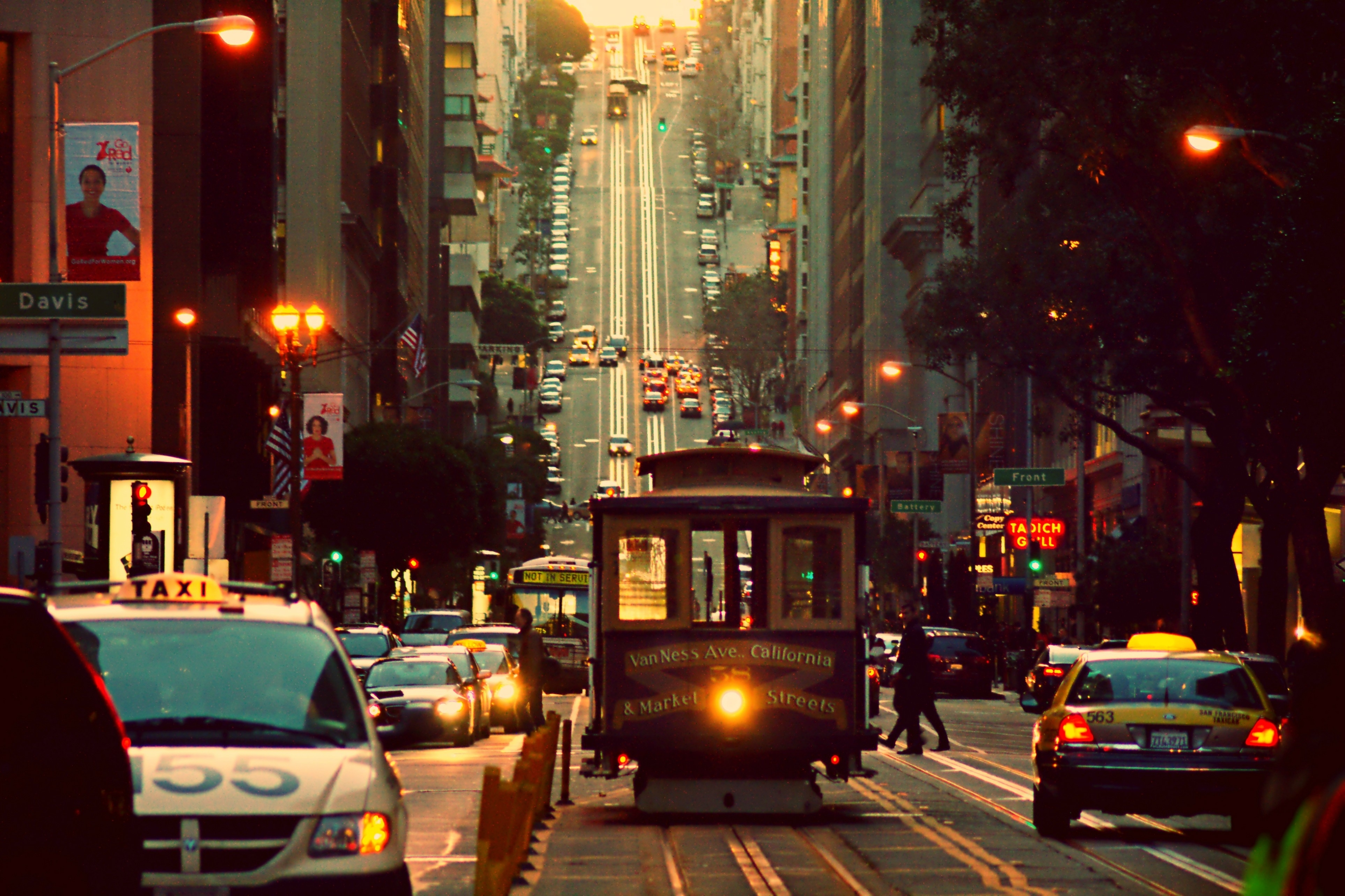 tram on a street in san francisco wallpapers and images - wallpapers