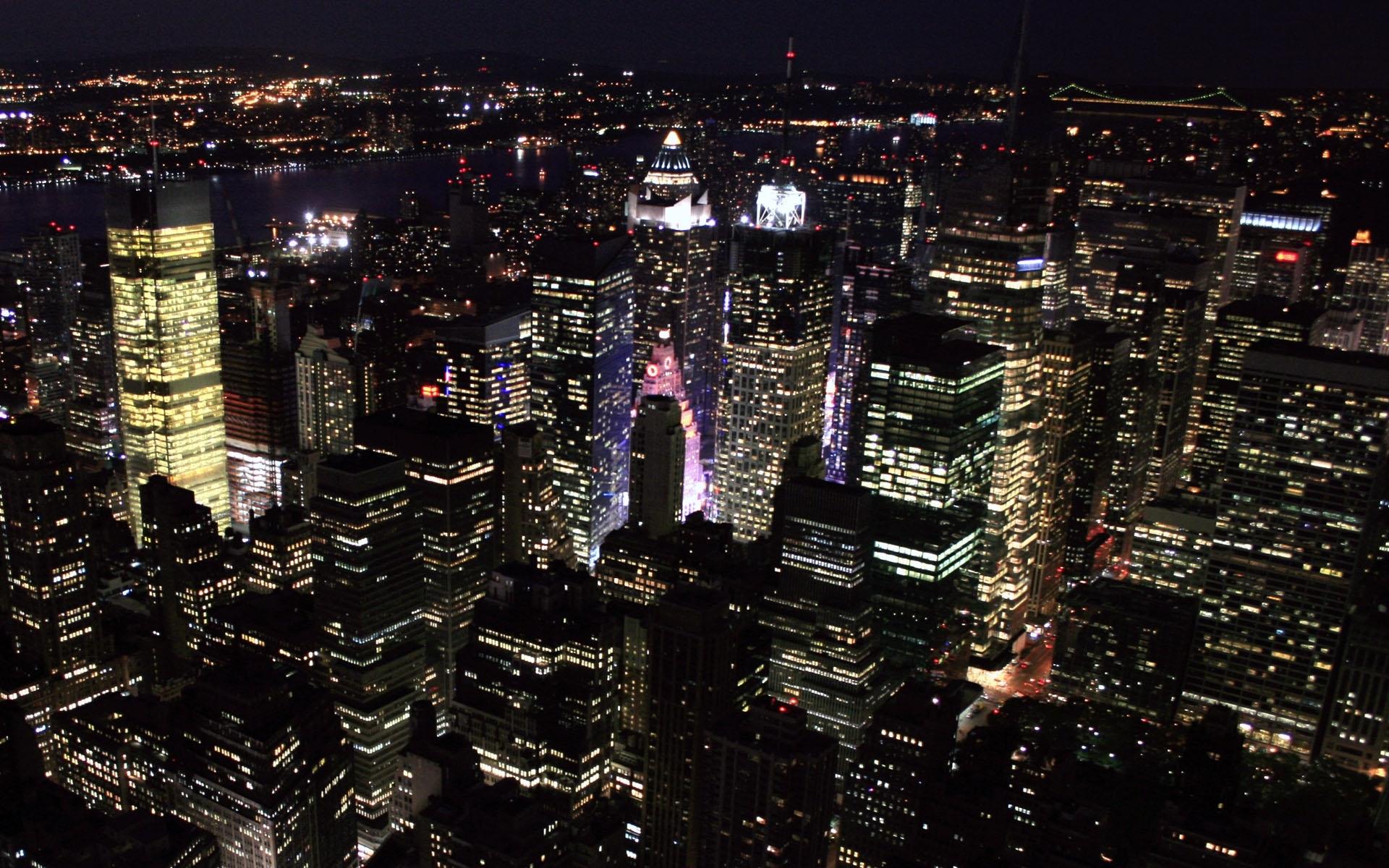 travel & world new york city nights wallpapers (desktop, phone