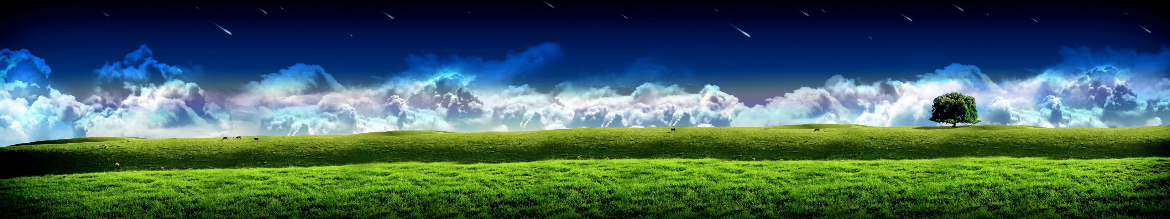 triple monitor screen wallpaper wallpaper | 7680x1440 | 768650