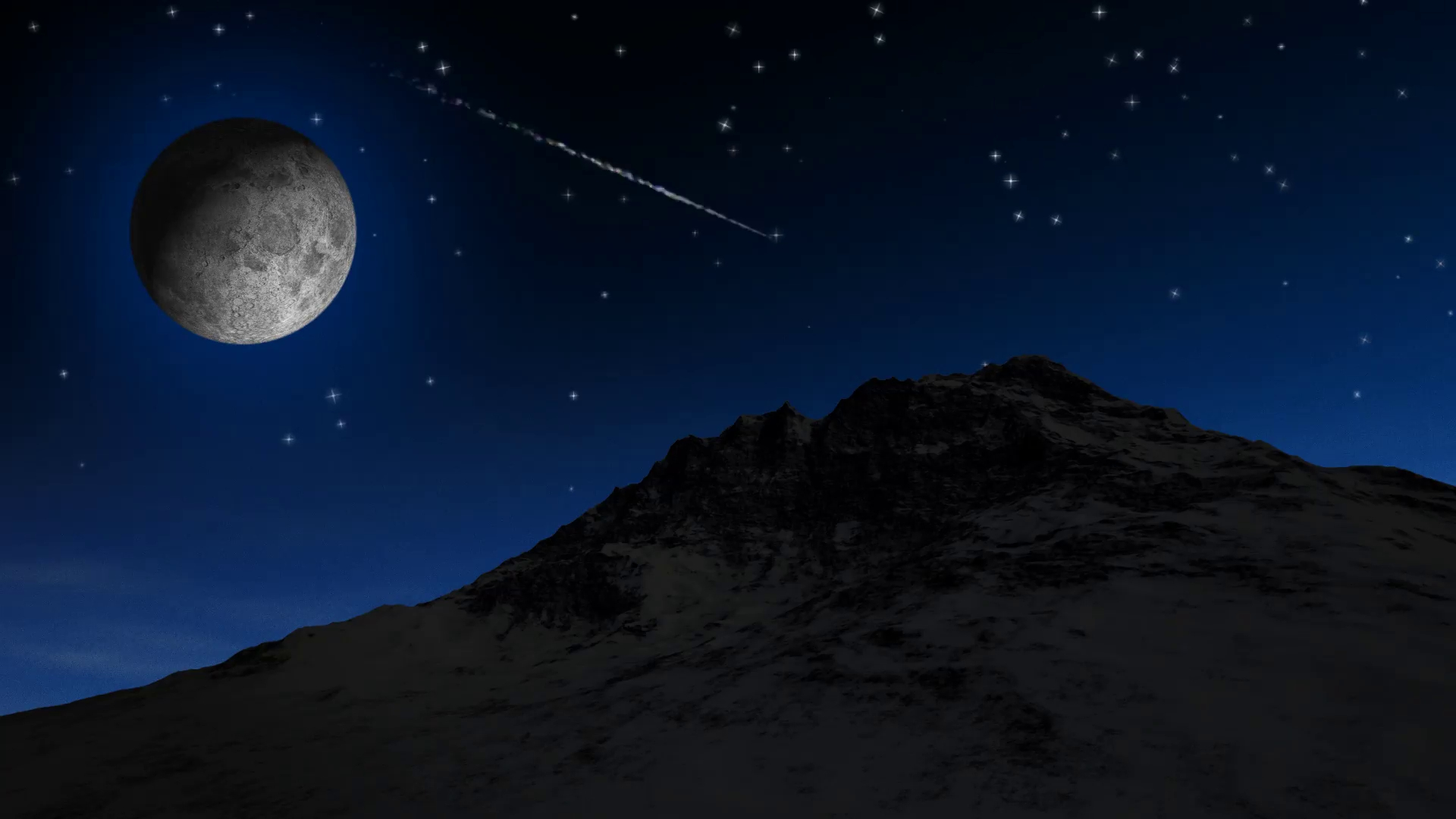 twinkling stars and moon motion background - videoblocks