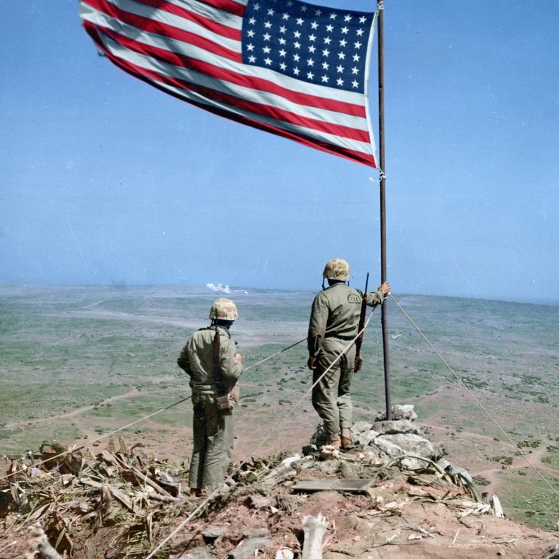 10 Top Raising The Flag On Iwo Jima In Color FULL HD 1080p For PC Desktop 2021 free download two us marines look over iwo jima from atop mt suribachi where 1 800x800