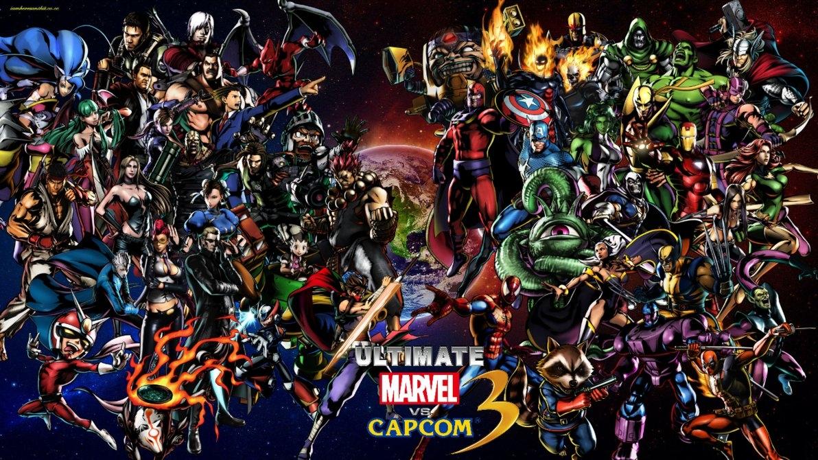 ultimate marvel vs capcom 3 cast wallpaperbxb-minamimoto on