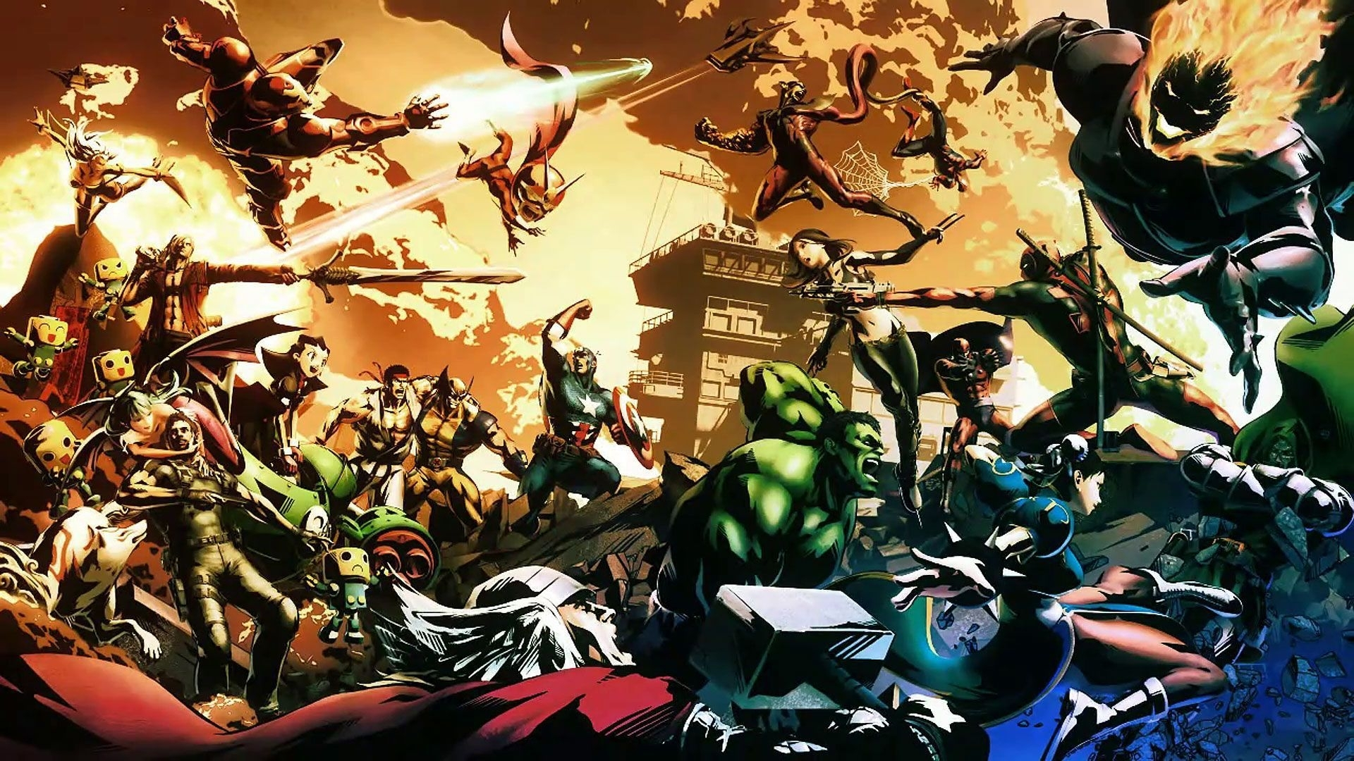 ultimate marvel vs. capcom 3 wallpaper hd | gaming wallpapers hd