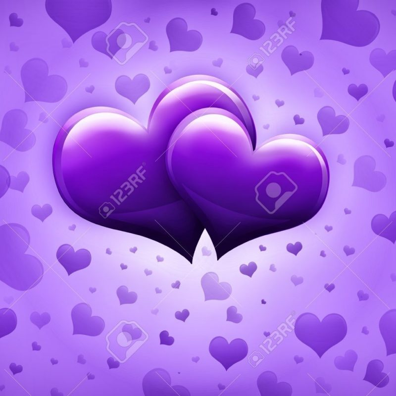 10 Most Popular Pictures Of Purple Hearts FULL HD 1920×1080 For PC Desktop 2020 free download valentines day card with two big purple hearts and many smaller 800x800