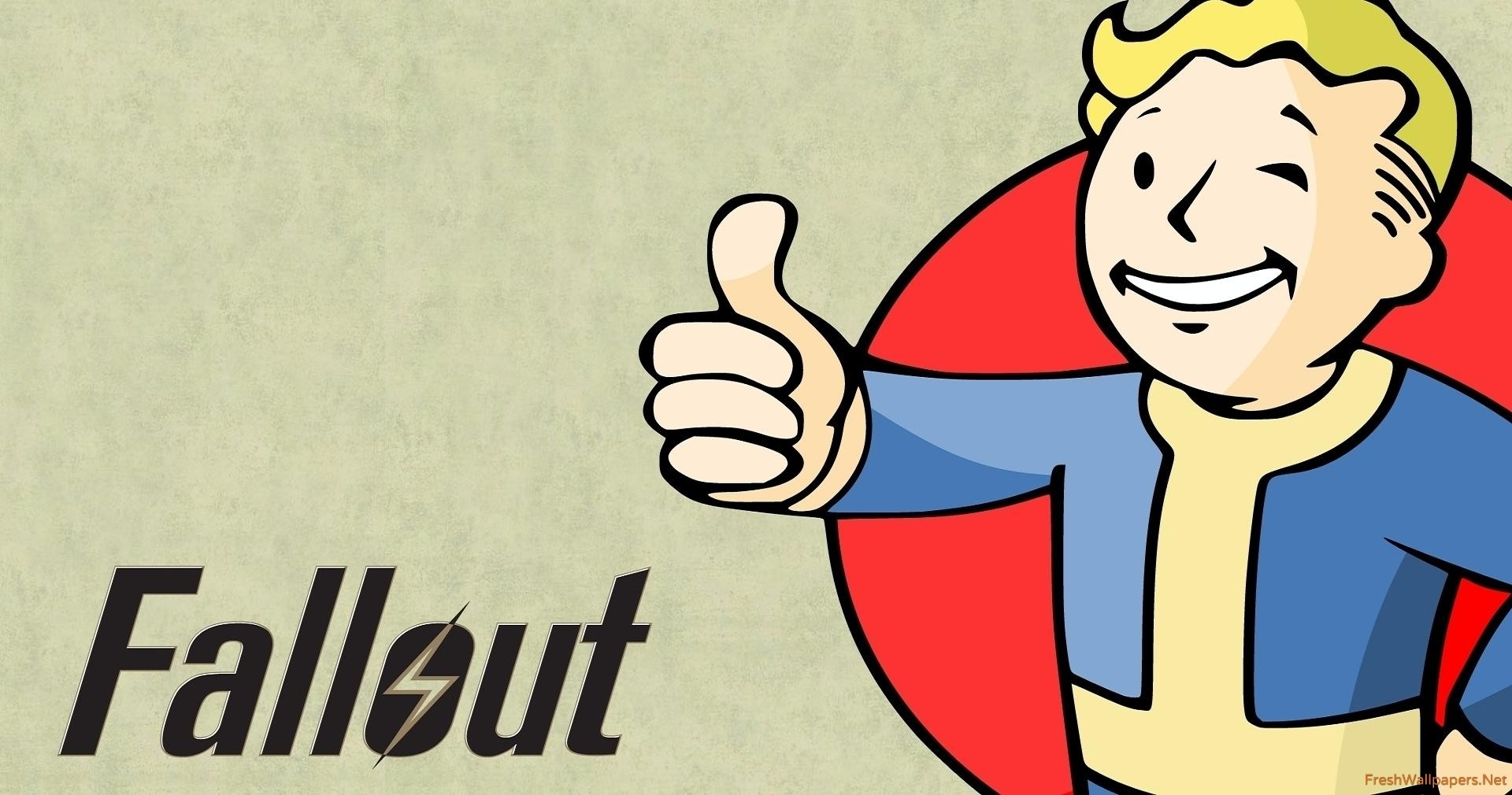 vault boy dressed in blue - fallout wallpapers | freshwallpapers