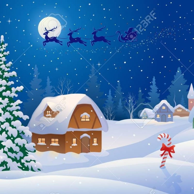 10 Most Popular Snowy Christmas Scenes Photos FULL HD 1920×1080 For PC Background 2021 free download vector illustration of a christmas scene with santa sleigh flying 800x800