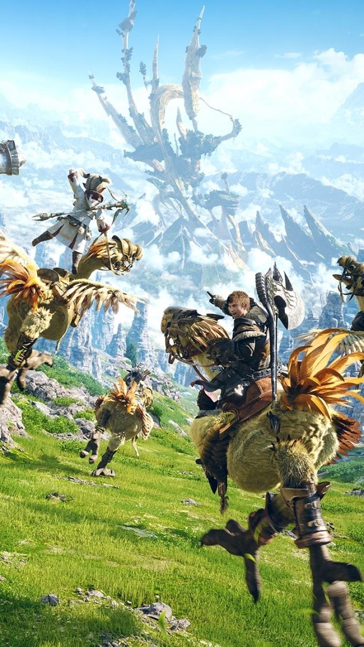 video game/final fantasy xiv: a realm reborn (750x1334) wallpaper id