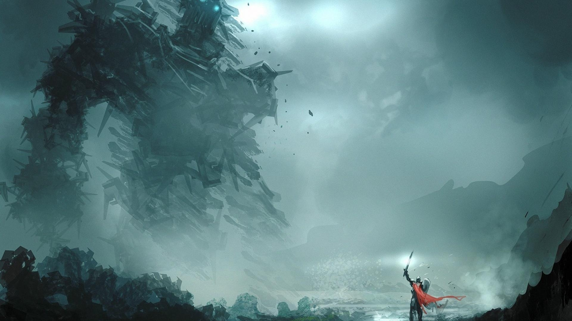 video games knights shadow of the colossus wallpaper | (104514)