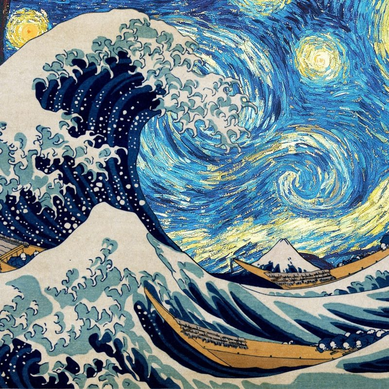 10 Top The Great Wave Off Kanagawa Hd FULL HD 1920×1080 For PC Desktop 2018 free download vincent van gogh hokusai starry night the great wave off kanagawa 800x800