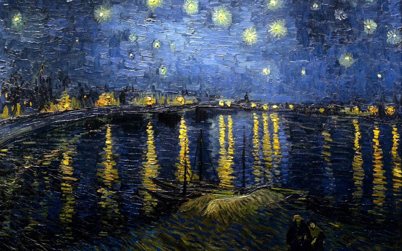 vincent van gogh - nuit étoilée au dessus du rhone - 10 000 fonds d
