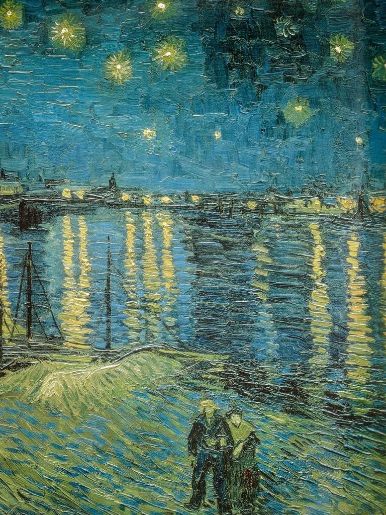 10 top vincent van gogh starry night over the rhone for Starry night over the rhone hd