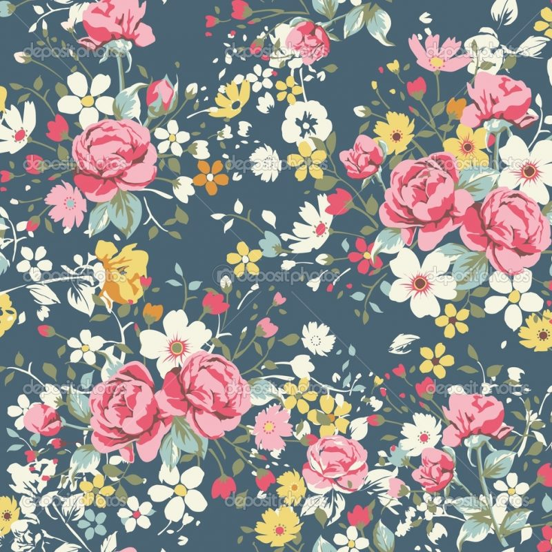 10 Latest Vintage Floral Pattern Wallpaper FULL HD 1080p For PC Background 2018 free download vintage floral print wallpaper wallpaperhdc 800x800