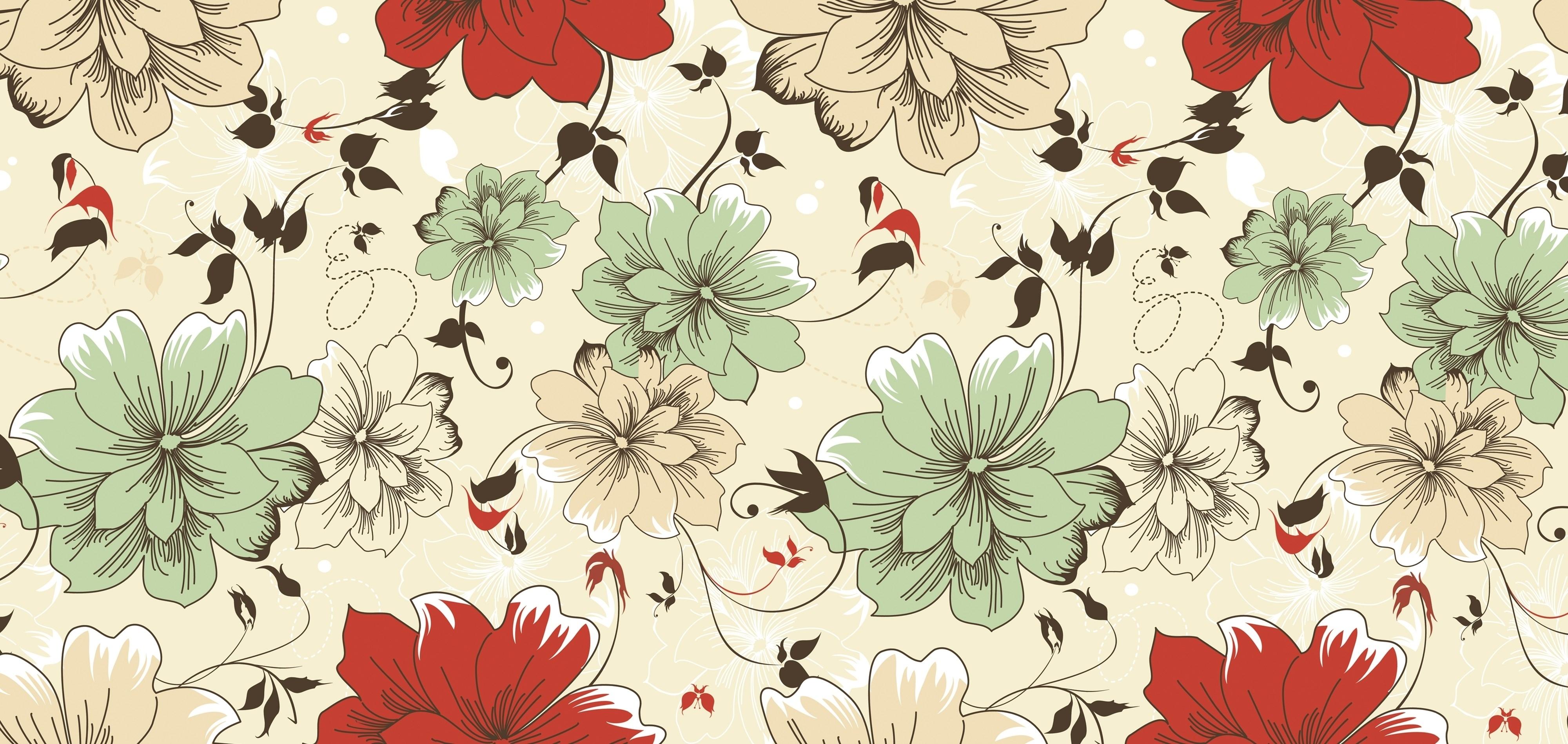 vintage floral wallpaper hd   pixelstalk