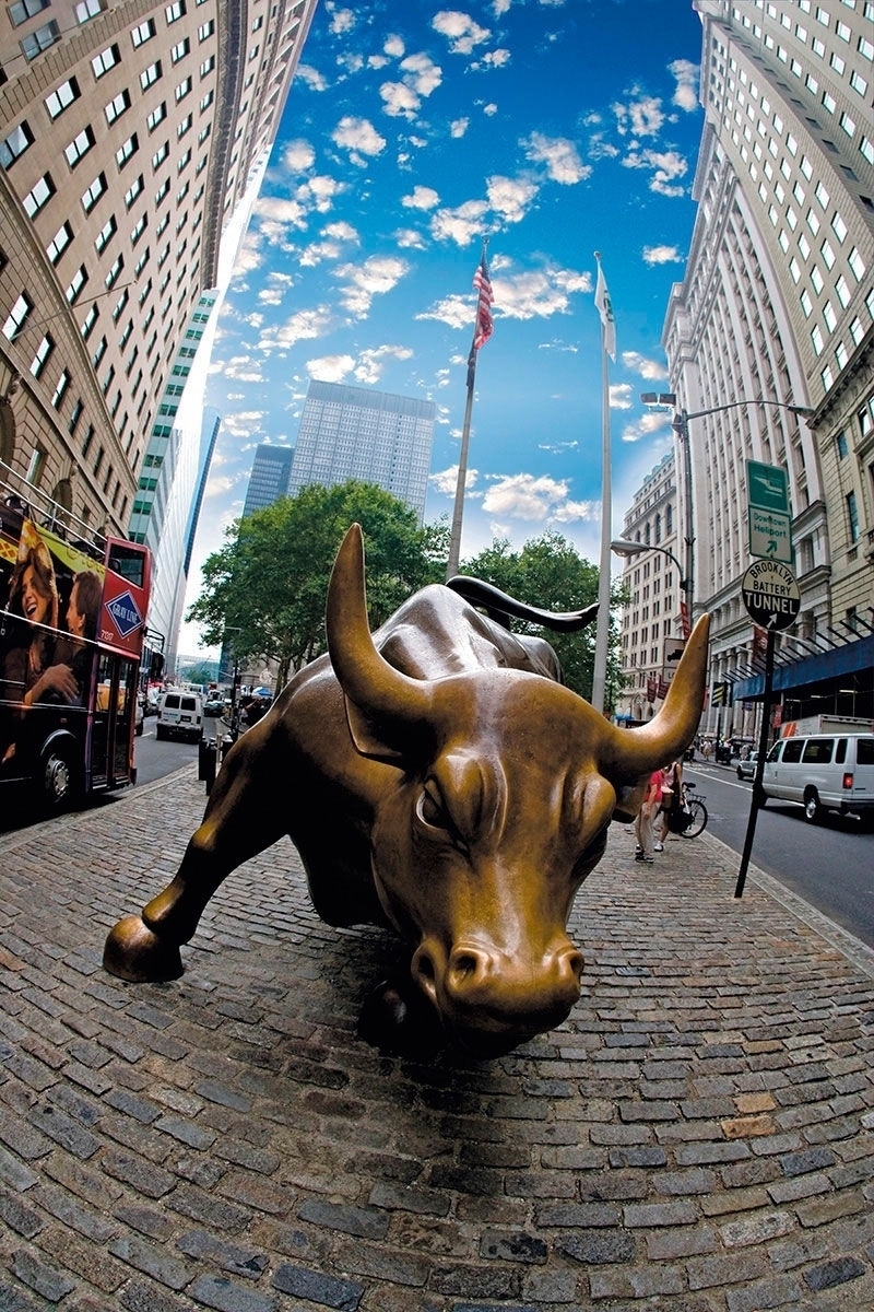 wall street bull wallpaper iphone - download popular wall street