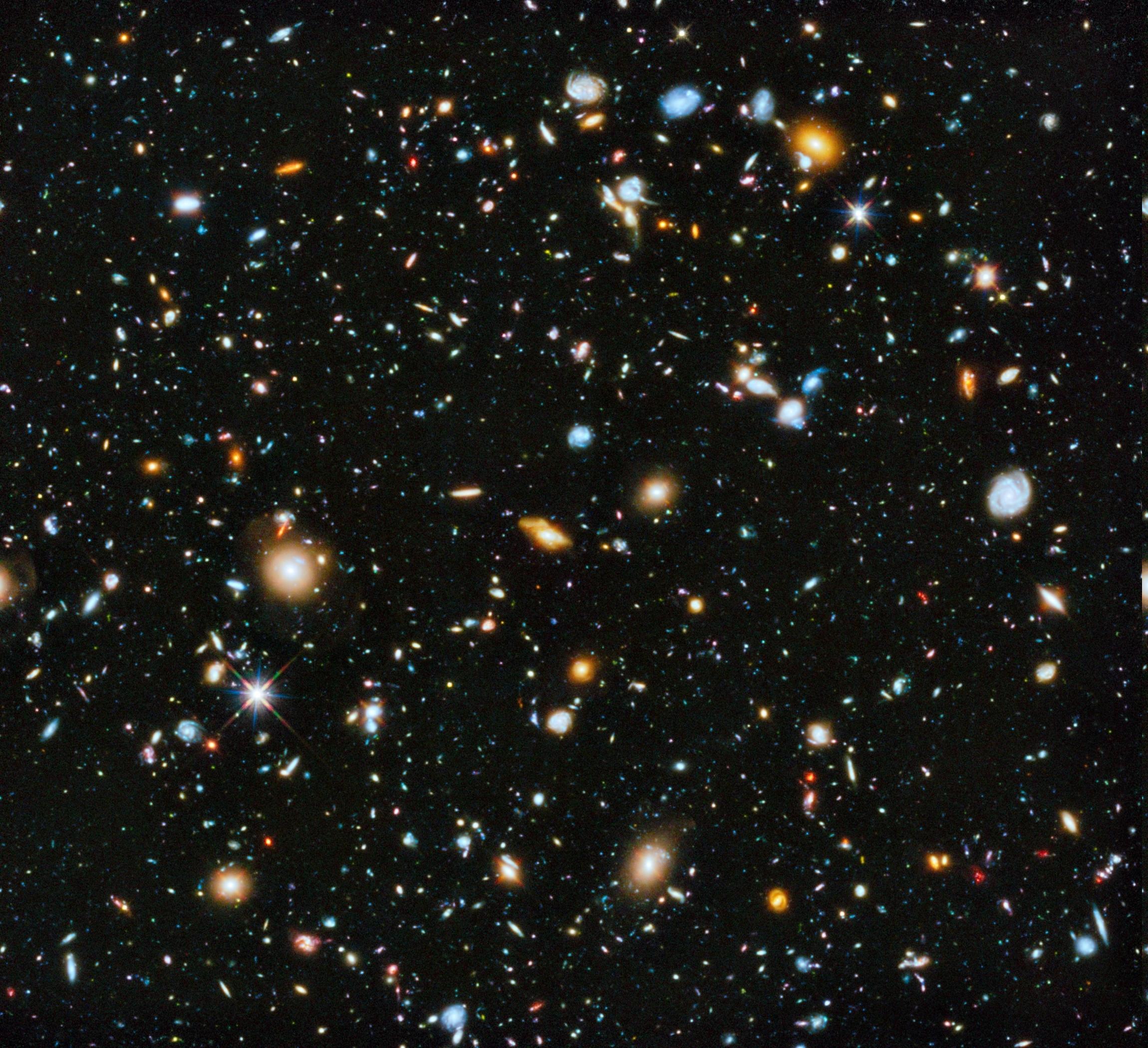 wallpaper : 2300x2100 px, deep space, galaxy, hubble deep field