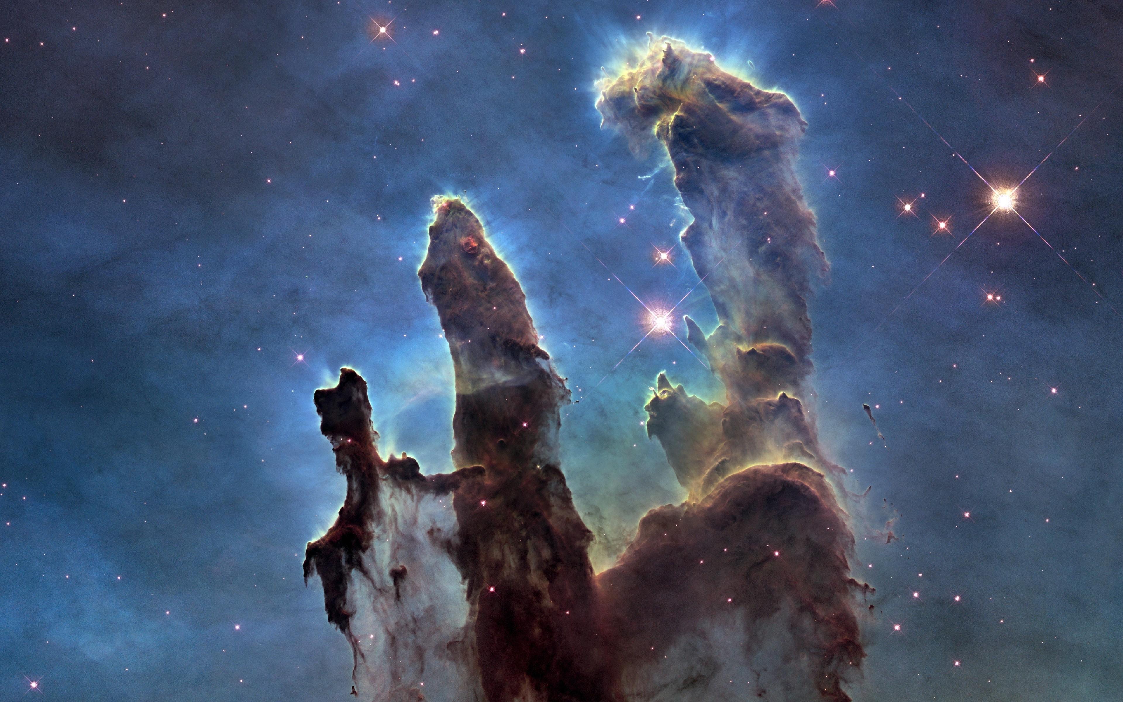 wallpaper : 3840x2400 px, nebula, pillars of creation, space, stars