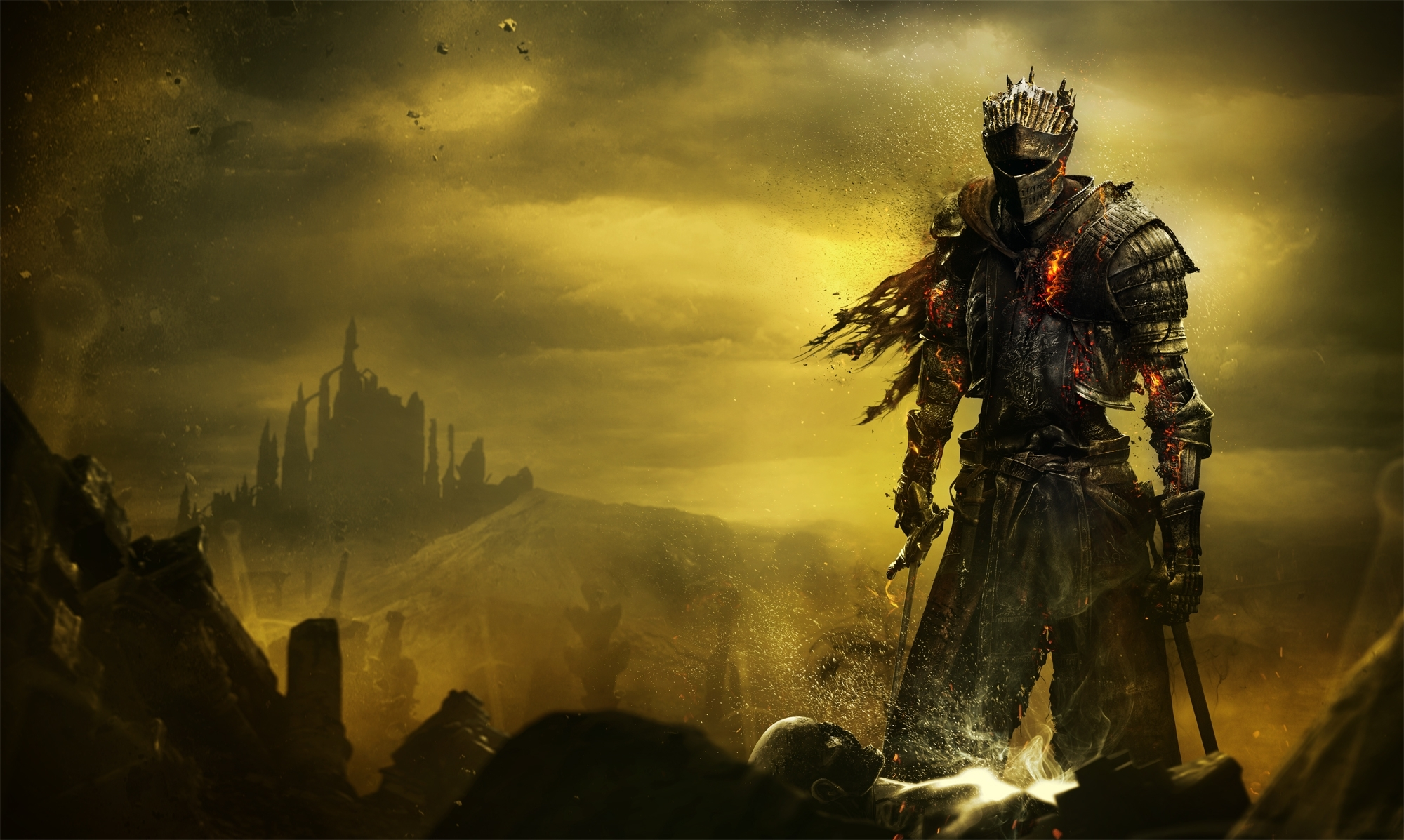 wallpaper dark souls iii, soul of cinder, hd, games, #1670