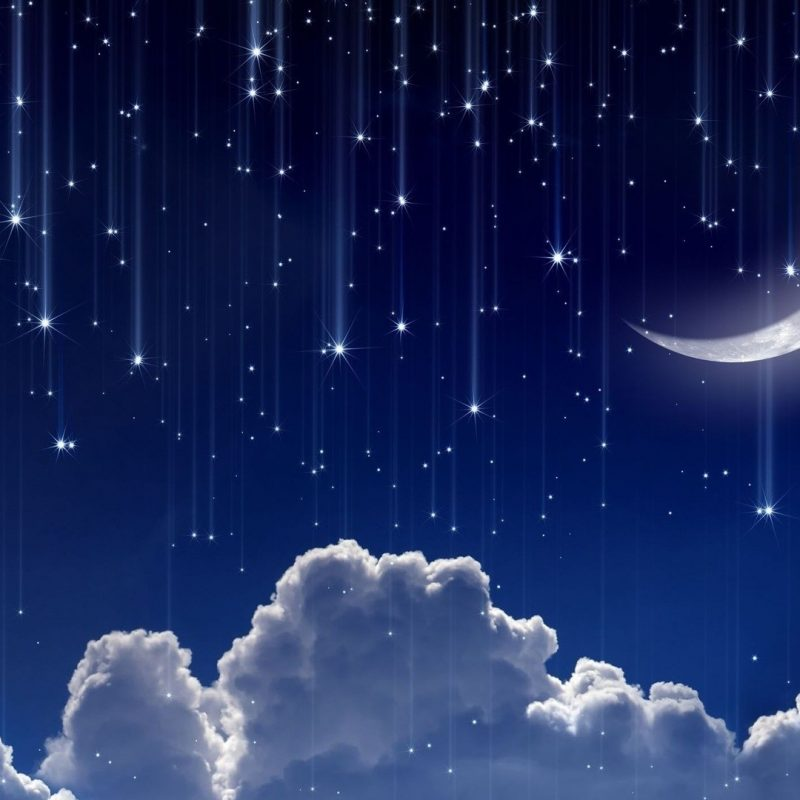 10 Latest Stars And Moon Backgrounds FULL HD 1080p For PC Background 2020 free download wallpaper digital art night sky blue background stars clouds 800x800