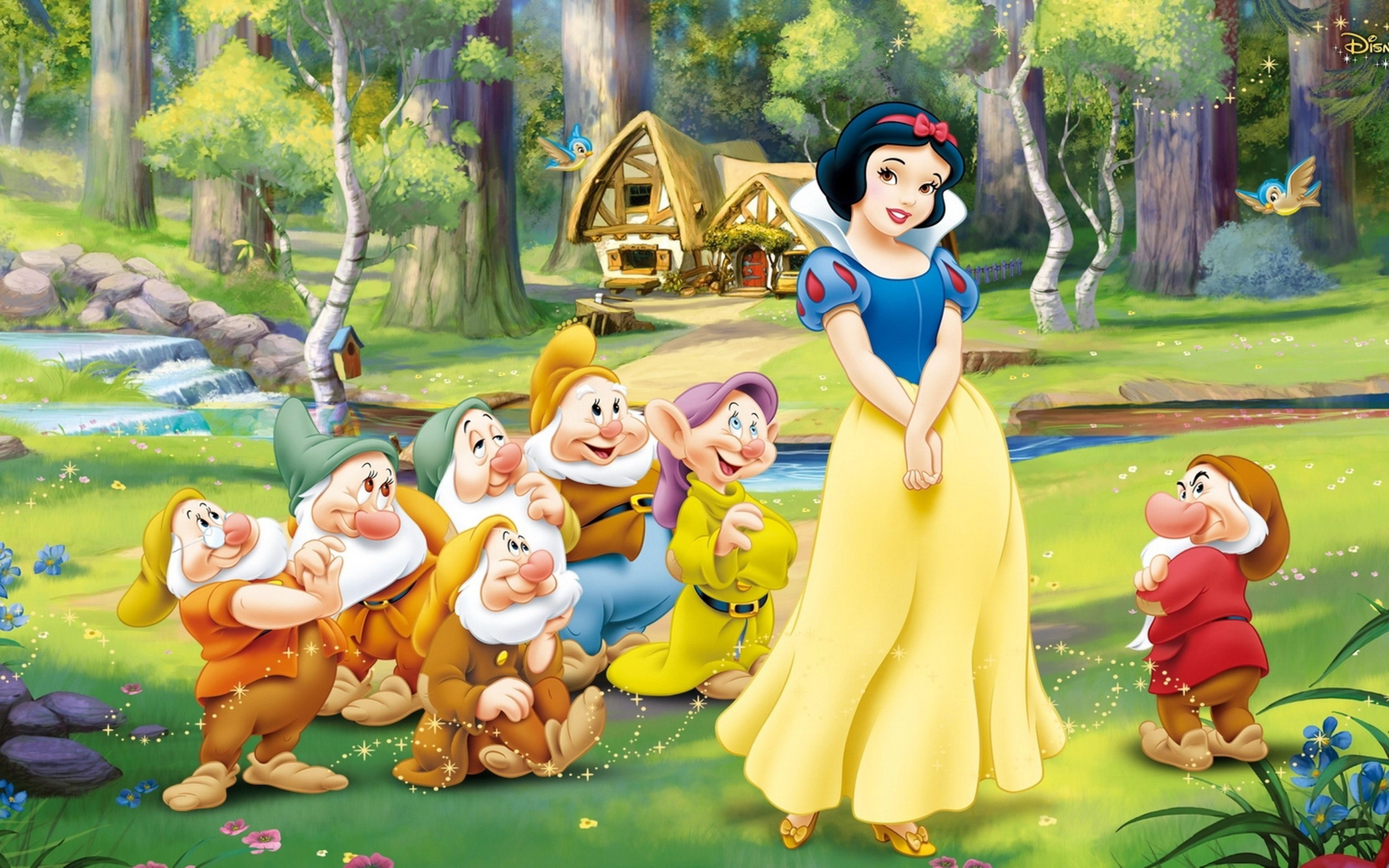 wallpaper download 5120x3200 snow white and the seven dwarfs - 3d