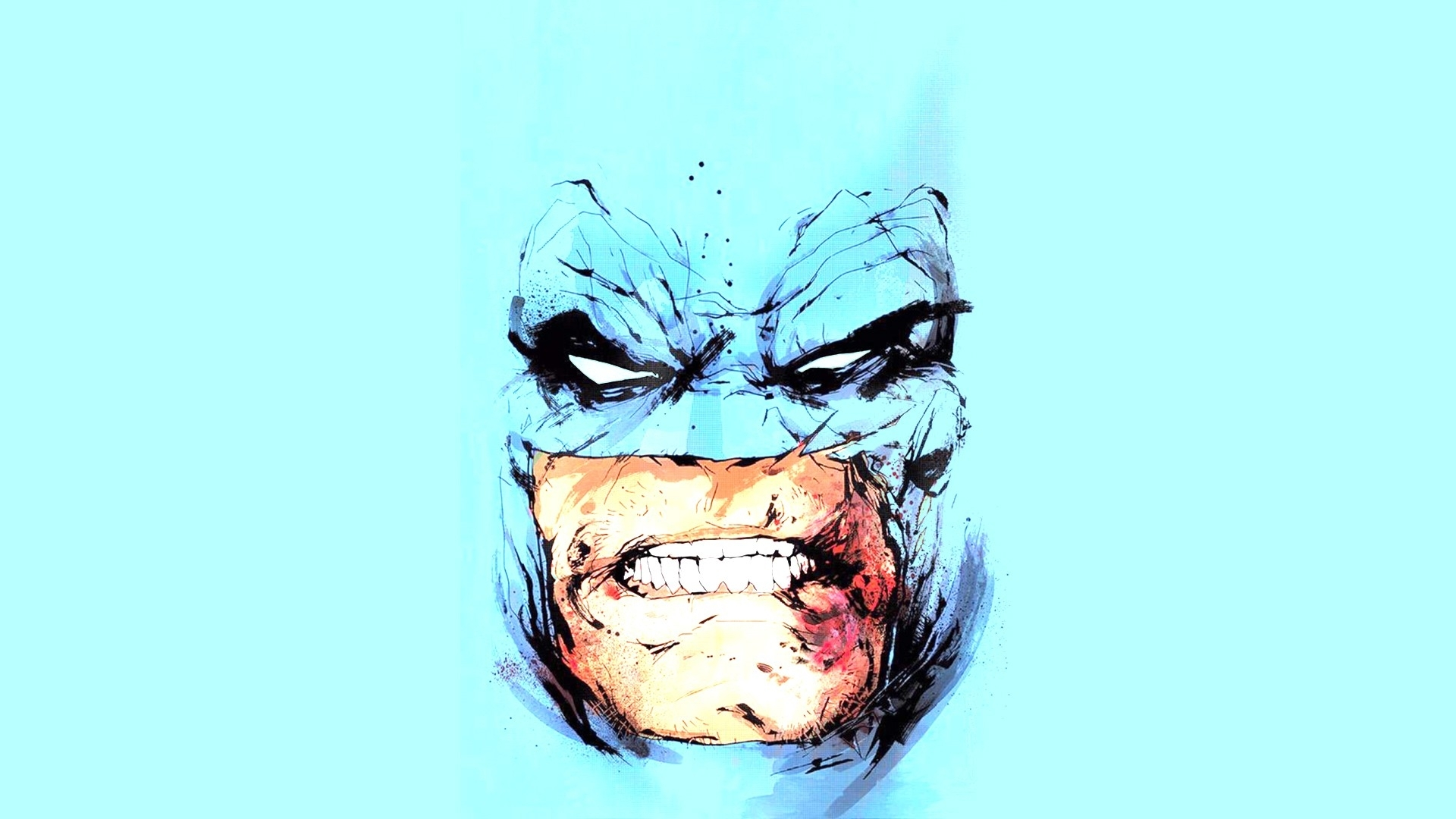 wallpaper : face, drawing, illustration, cartoon, batman the dark