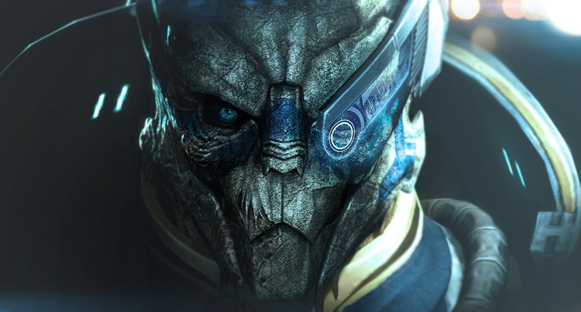 wallpaper garrus vakarian, turian, mass effect desktop wallpaper