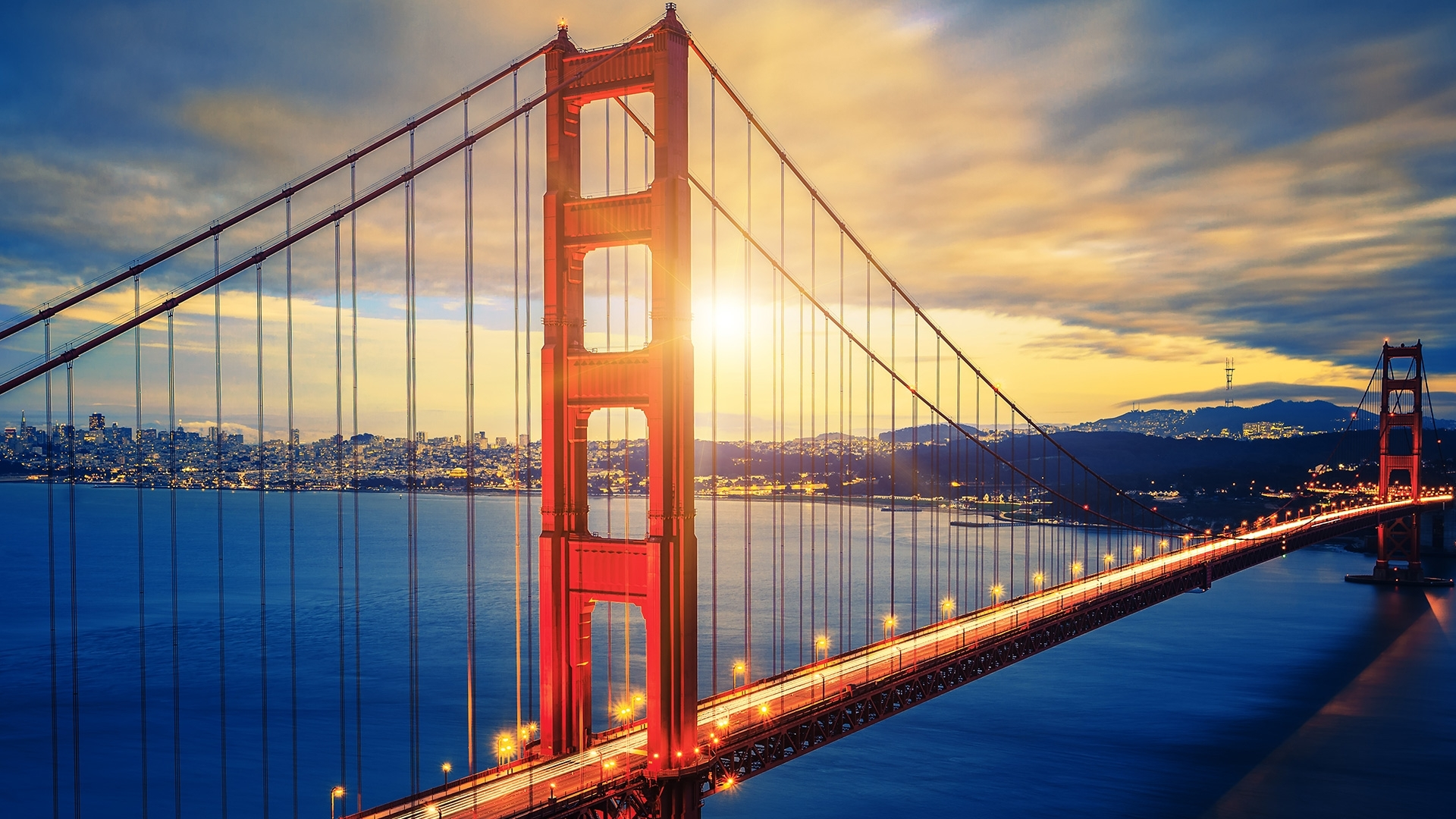 wallpaper golden gate bridge, sunset, hd, world, #2492