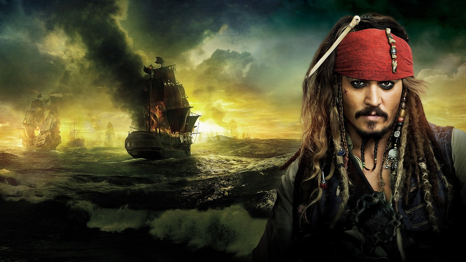 wallpaper johnny depp movie pirates of the caribbean with hd 1080p