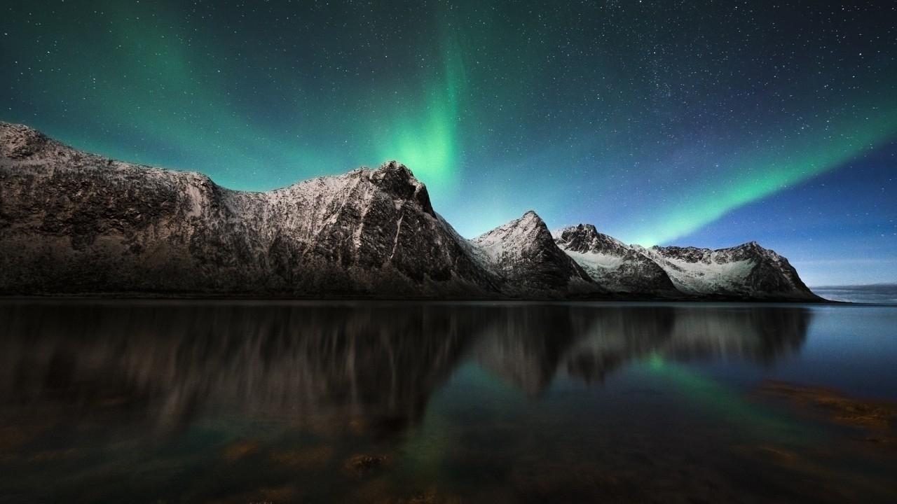 wallpaper northern lights, aurora borealis, iceland, nature, #1481