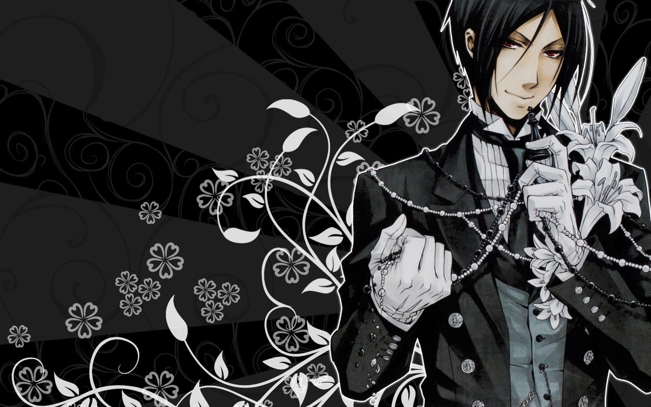 wallpaper of sebastian's wallpaper for fans of kuroshitsuji. from