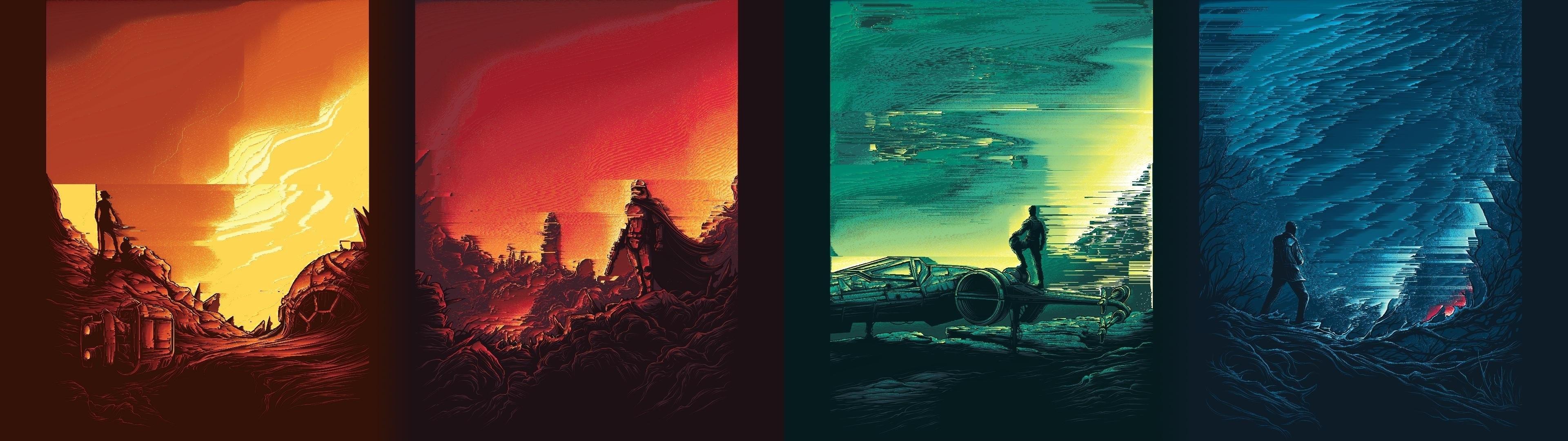 Title : wallpaper : star wars, atmosphere, dual monitors, multiple display. Dimension : 3840 x 1080. File Type : JPG/JPEG