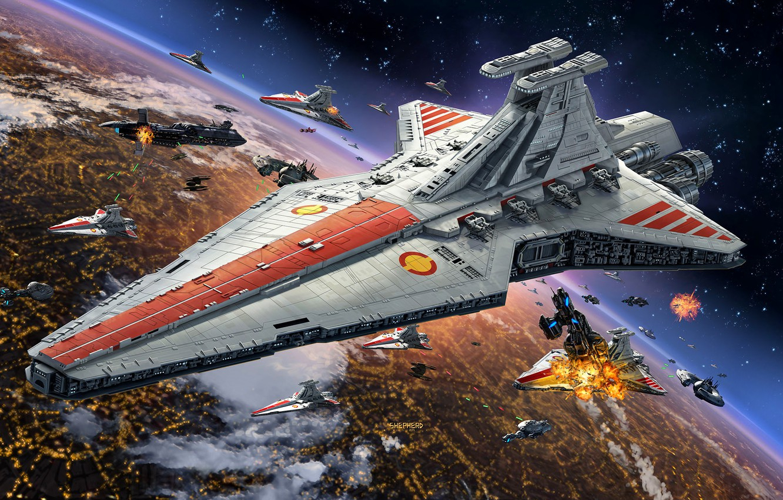 "wallpaper star wars, coruscant, star destroyer, type ""venator"", the"